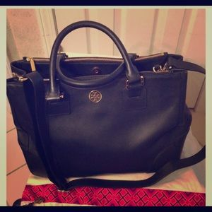 Authentic Tory Burch double zip tote